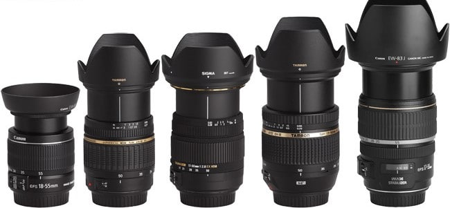 Canon 17 50mm Lens Comparison With Hoods